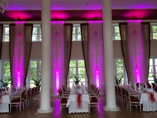 Ambiente-Beleuchtung für Hochzeiten